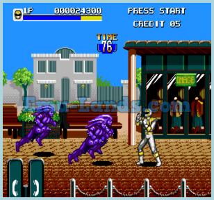 Mighty Morphin Power Rangers на sega